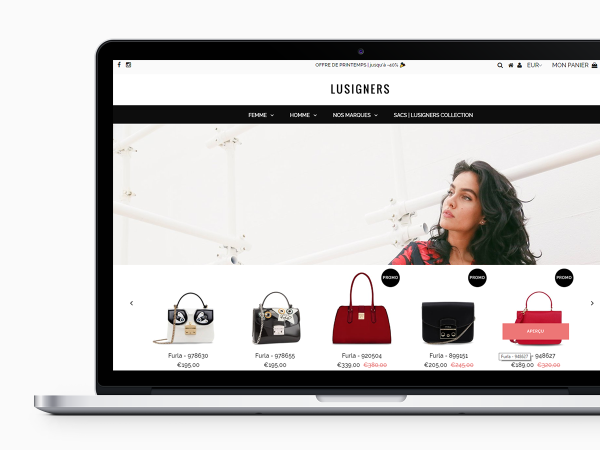 Lusigners – Site ecommerce – France