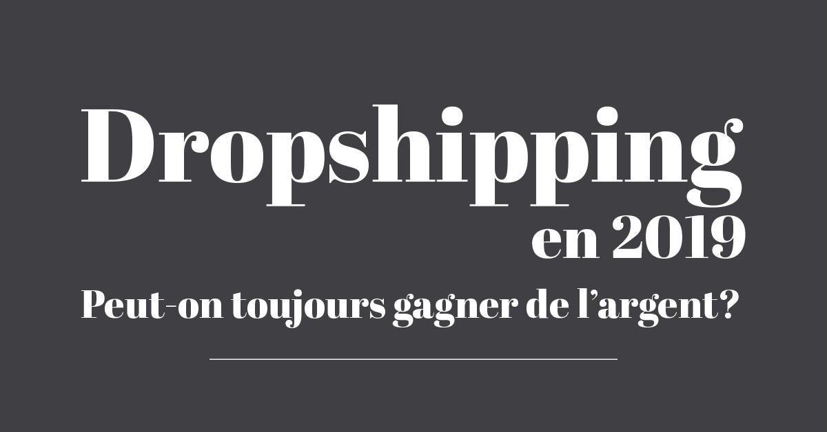 Dropshipping en 2019 : peut-on toujours gagner de l'argent ?