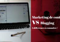 Différence entre Marketing de contenu et Blogging