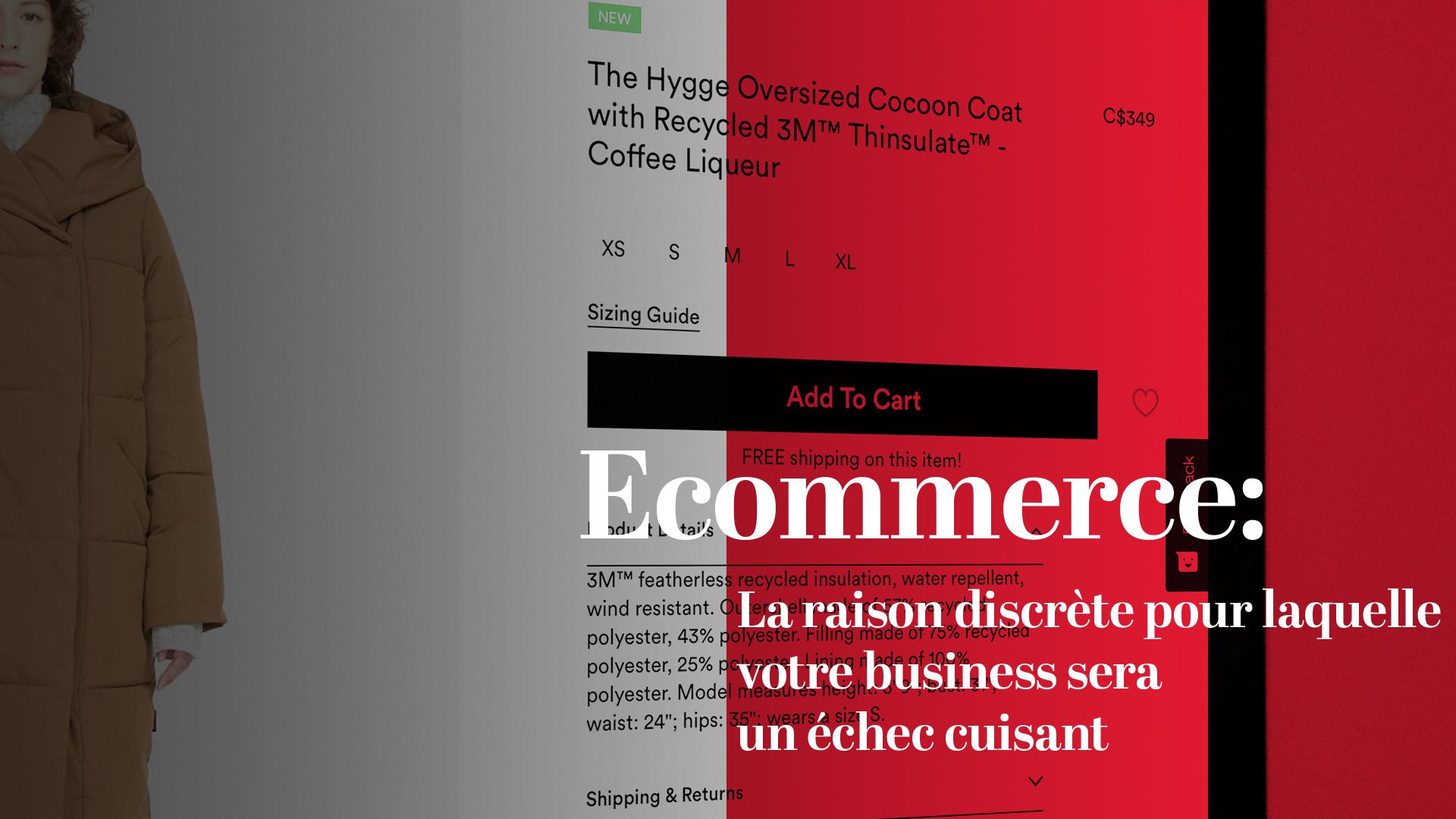 E-commerce : la raison discrète pour laquelle votre business sera un échec cuisant !