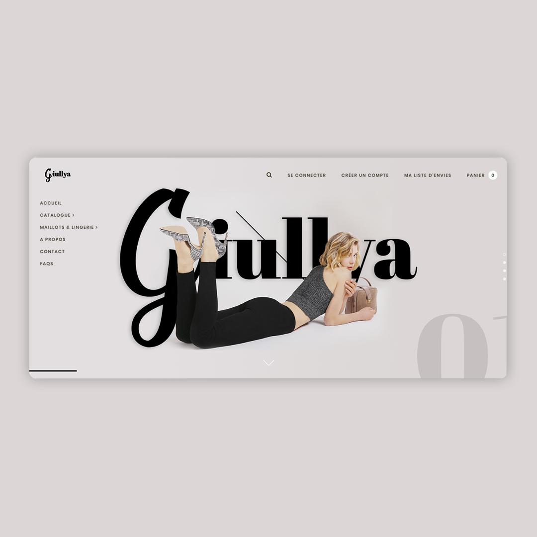 Giullya - Charte Graphique et site E-commerce 4