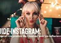 Shoutout avec les influenceurs instagram guide